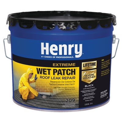 3 3 Gallon Henry Extreme Wet Patch Roofing Cement And