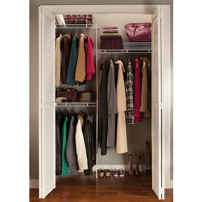 White Closetmaid 5 Foot Shelf And Rod Closet Organizing System