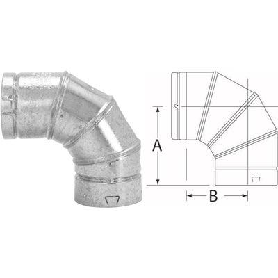 4 Inch Selkirk Rv Gas Vent 90 Degree Adjustable Elbow Ebay