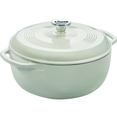 White Lodge 6 Quart Porcelain Enamel Coated Cast Iron