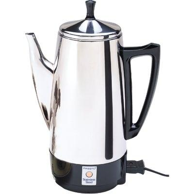 Electric Coffee Maker Wattage : Presto 2 to 12-cup Stainless Steel Electric Coffee Percolator 120V 800-Watt 28851808057 eBay