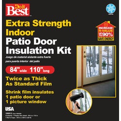 Item 100812, Extra strength indoor patio door insulation kit is twice as thick as