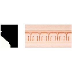 Item 162841, Solid, hardwood molding sanded smooth and ready-to-finish with stain or