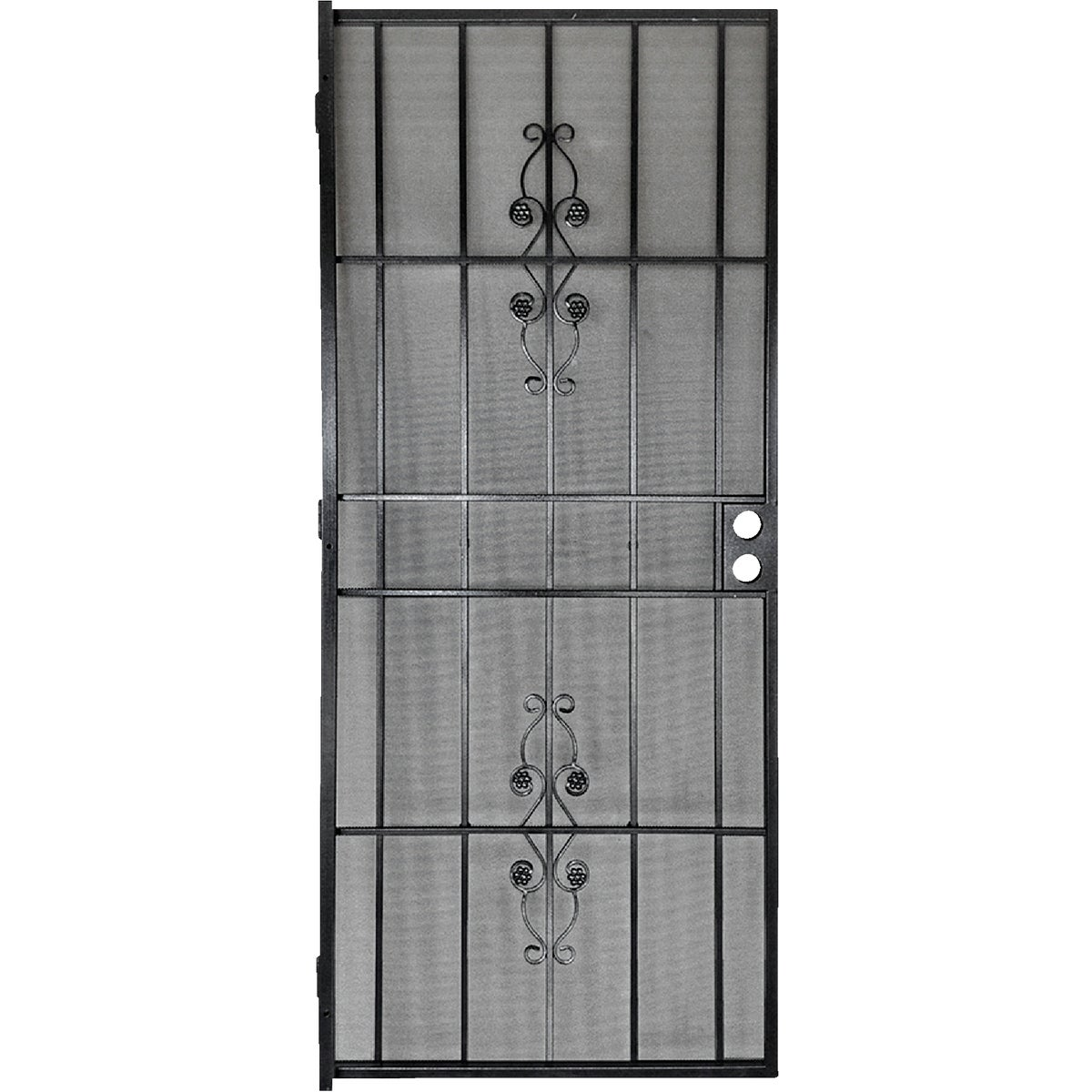 Item 181978, Steel security door featuring powder coated finish with matching 24-gauge expanded steel mesh for added security.
