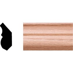 Item 187046, Lineal solid red oak crown molding. Cut-to-length.