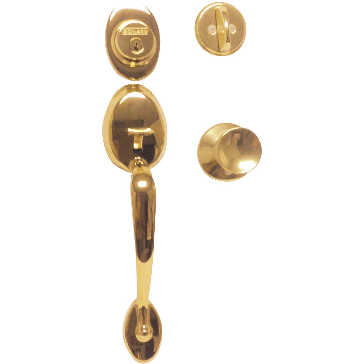 Item 248347, Visual pack. Exterior grip handle set with Bell interior knob with B-series single cylinder deadbolt for exterior doors.