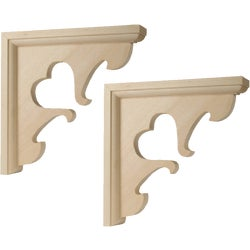 Item 250880, Decorative pine corbel. Keyhole mounting plate included.