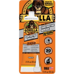 Item 261107, All surface and all purpose indoor/outdoor Gorilla construction adhesive