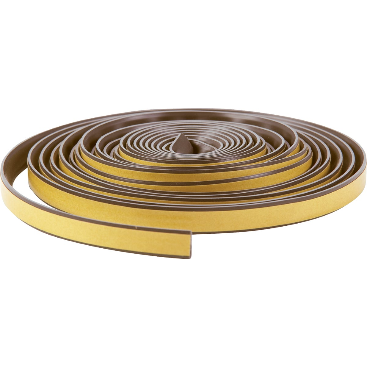 Item 272724, Silicone weatherseal with self-stick tape. Ideal for doorways or similar applications. Smoke seal. Built-in memory/retains shape. Will not harden, crack, or freeze.