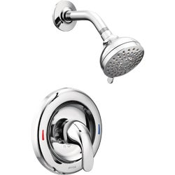 Item 400644, Adler single handle shower faucet with both lever handle and knob handle