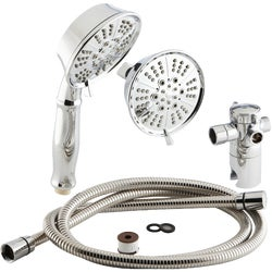 Item 400980, Combination handheld and fixed mount showerhead with five adjustable