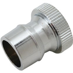 Item 401344, Aerator adapter features female snap fitting for various small diameter