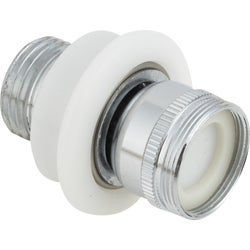 "Item 408437, The 1/2"" hose connector adapts Male or Female threaded faucets to Female"