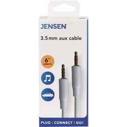 Item 500289, Durable cable used to connect portable audio players to a stereo or auto