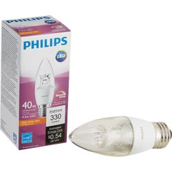 Item 501206, LED (light emitting diode) blunt tip light bulb with Warm Glow light effect