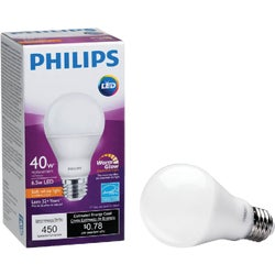 Item 501711, Dimmable household LED (light emitting diode) bulb with Warm Glow effect.