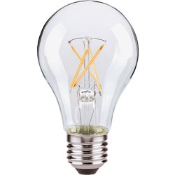 Item 501918, A19 LED (light emitting diode) light bulb with a traditional incandescent