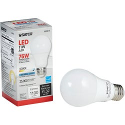 Item 502599, Solid state, dimmable LED (light emitting diode) A19 light bulb with medium