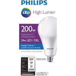 Item 502749, A35 high lumen LED (light emitting diode) medium base light bulb.