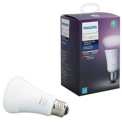 Item 502754, A19 dimmable LED (light emitting diode) smart bulb.