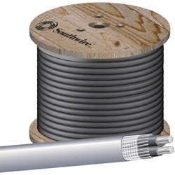 Item 506991, Aluminum unarmored Triple E service entrance cable used to convey power from the service drop to the meter base and from the meter base to the distribution panel board.
