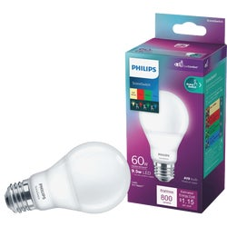 Item 511158, 1 LED (light emitting diode) light bulb with 4 color settings at a flip of