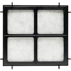Item 512087, 2-stage filter traps airborne pollutants and odors.