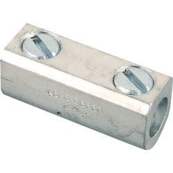Item 538183, Splicer/reducer with solid barrier wire stop, all aluminum body, tin plated