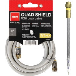 Item 561118, The Digital Plus quad RG6 coaxial cable is a quality digital cable that
