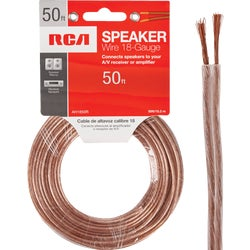 Item 561207, 18-gauge speaker wire ideal for connecting speakers to amplifiers or