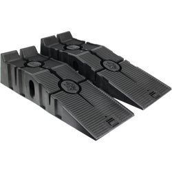 Item 572241, Rhino Ramps are made of durable plastic with a 17 deg.