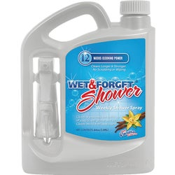 Item 600468, Cleans and prevents to build up of soap scum, grime, and oils.