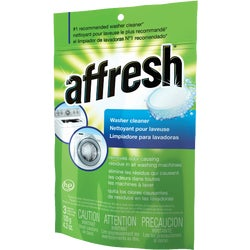 Item 600476, Affresh tablets remove the source of odor in the washer by breaking up