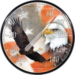 Item 600845, Thermometer captures the patriotic imagery of the American eagle on the