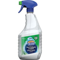 Item 602190, Scrubbing Bubbles Daily Shower Cleaner has a wide spray with a dual-action