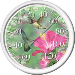 "Item 602324, Trumpet Hummingbirds - 13-1/2"" molded dial design with stylish,"