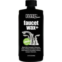 Item 602798, Faucet wax seals, polishes, and protects.