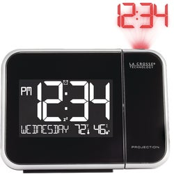 Item 603239, Projection alarm clock with indoor temperature/humidity.
