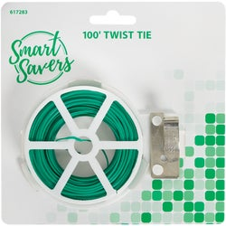 Item 617283, Smart Savers green rubber twist tie. 100-foot roll.