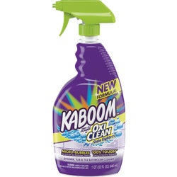 Item 619762, Kaboom Shower, Tub, & Tile Spray is a powerful cleaner designed to