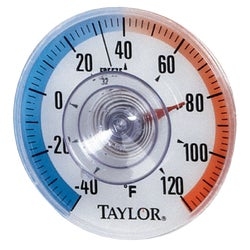 "Item 626015, 3-1/2"" window dial. Read outside temperature from inside."