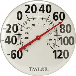 "Item 626023, Extra large, 18"" metal dial thermometer."