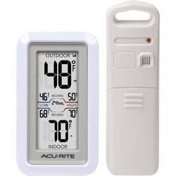 Item 642716, Wireless indoor/outdoor thermometer provides accurate, reliable temperature