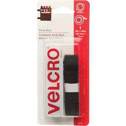 Item 644471, Adhesive backing VELCRO brand fasteners for smooth surface. For general purpose needs. No sewing required. Simply peel and stick. 3/4 In.