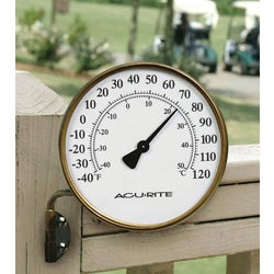 Item 651618, Indoor and outdoor decorative metal thermometer.