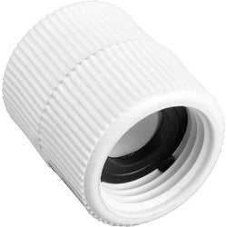 Item 703565, Swivel fitting connects garden to 3/4 In. pipe. High quality construction.