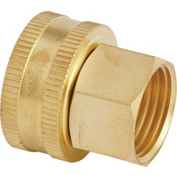 Item 704223, Brass swivel fitting ideal for connecting female hose to pipe