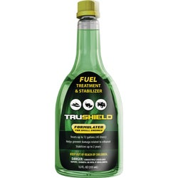 Item 704453, TruShield Fuel Treatment and Stabilizer protects engine, removes engine