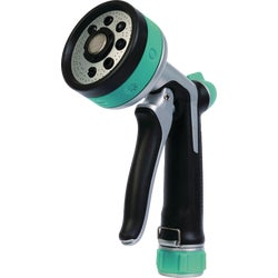 Item 704904, Eight-pattern spray nozzle with thumb control.