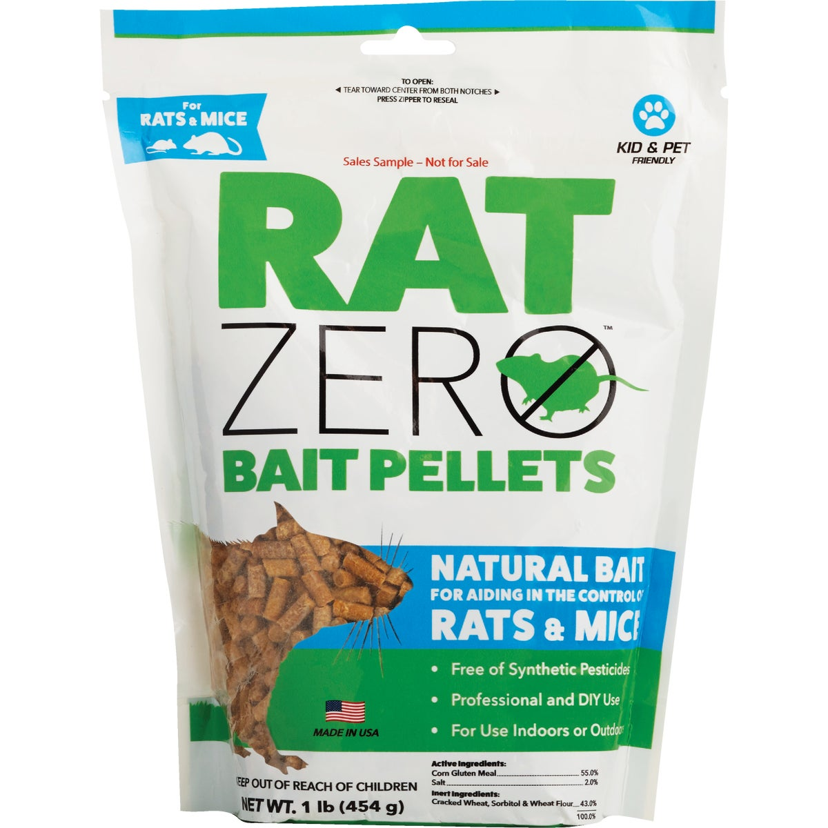 Item 705496, Bait pellet rat & mouse killer. Chemical free alternative way to treat for rodents and for use as a part of a larger system of rodent control.